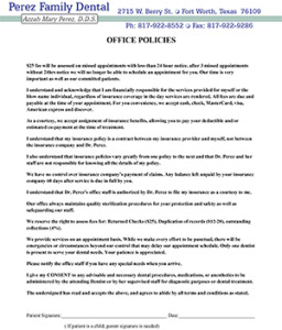 perez-family-dental-policies-english