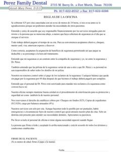 perez-family-dental-policies-spanish